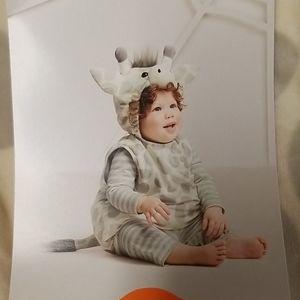 NWT Infant Giraffe Vest with Hood set